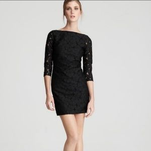 Diane Von Furstenberg Black Sarita Lace Dress